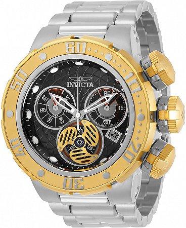 Relógio Invicta 31504 Subaqua 52mm Banho Prata e Ouro 18k Suíço