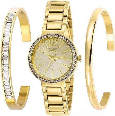 Relógio Invicta Angel 29269 Feminino Banho Ouro Caixa 30mm