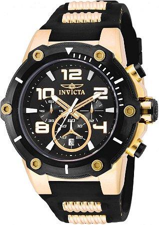 Relógio Invicta Speedway 17200 Banho Ouro Cronógrafo 51mm