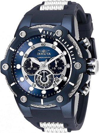 Relógio Invicta Bolt 28035 Banho Íon Azul 51,5mm Cronógrafo