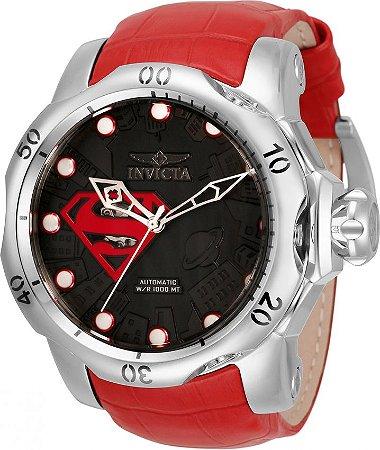 Relógio Invicta DC Comics Superman 33817 Automático Prata e Vermelho 53mm