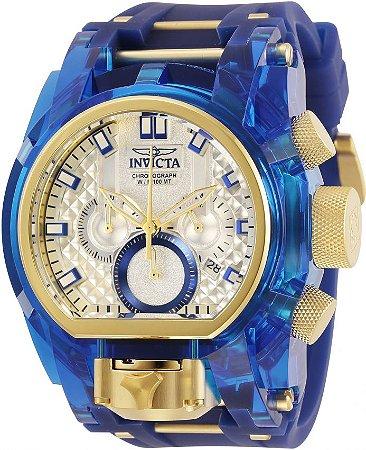 Relógio Invicta Bolt Zeus 29998 Anatômico 52mm Azul