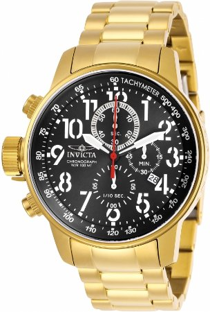 Relógio Invicta Conection 28745 Banho Ouro Mostrador Preto