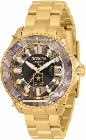 Relógio Invicta Army 32339 Militar Banho Ouro Feminino