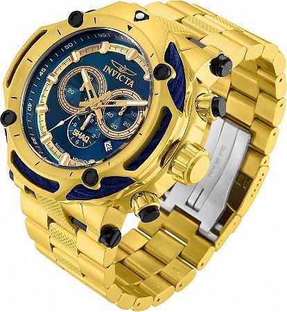 Relógio Invicta SHAQ 33660 Banho Ouro Gigante Movt Suíço