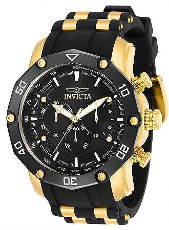 Relógio Invicta Pro Diver 30080 Banho Ouro Cronógrafo