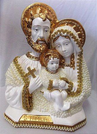 Sagrada Família em Pérola 30cm