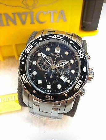 20a59b61ae3 Relogio Invicta Pro Diver prata com o mostrador em preto - Luks ...