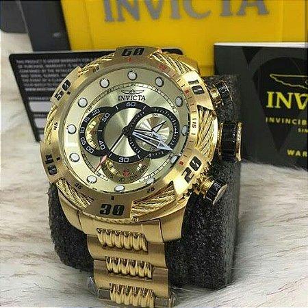 Relogio Invicta modelo Speedway dourado