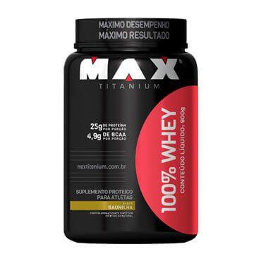 100% WHEY  (900G) - BAUNILHA - MAX TITANIUM