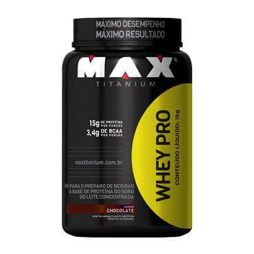 WHEY PRO (1KG) - CHOCOLATE - MAX TITANIUM