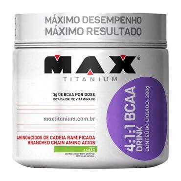 4:1:1 - BCAA DRINK (280G) - LIMÃO - MAX TITANIUM