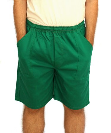 Bermuda de Brim Verde Uniforme Profissional