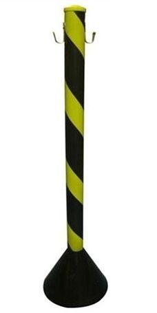 Pedestal de Pvc Zebrado Preto e Amarelo