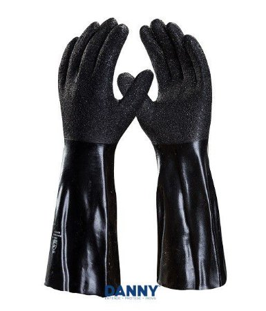Luva de Nylon para Produto Quimico Blackgrip Danny 45cm DA-830 CA 31404