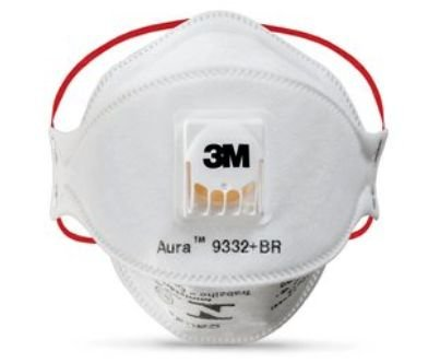 MASCARA 3M PFF3 AURA 9332 BR VALVULADA CA 30702