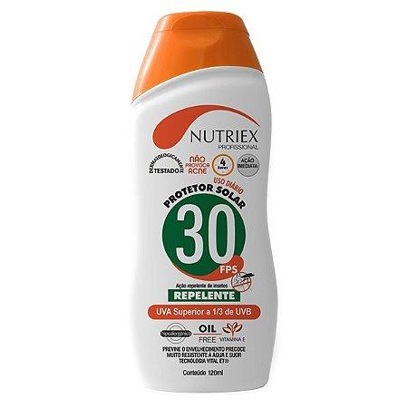 PROTETOR SOLAR NUTRIEX UV FPS 30 COM REPELENTE 120ML