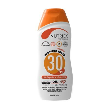 Protetor Solar Nutriex UV FPS 30 120ml