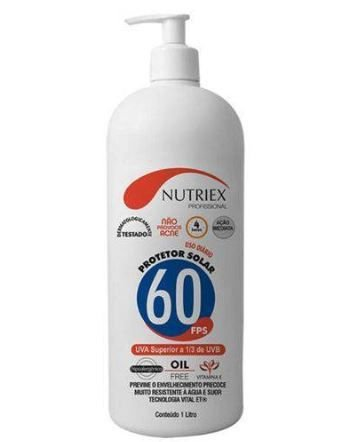 NUTRIEX PROTETOR SOLAR FPS 60 COM REPELENTE 1 LT