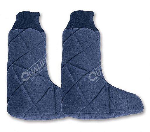 Meia tipo Botina de Nylon Térmica Azul Qualiflex CA 18412