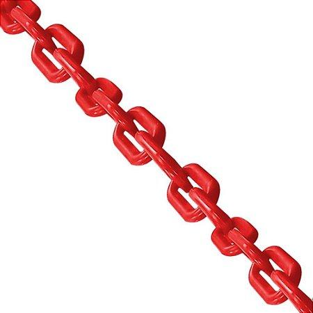 Corrente Plastica Vermelha Elo Grande 10mm