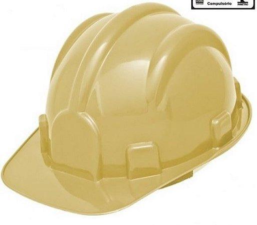CAPACETE PLASTCOR C/CARNEIRA BEGE 31469