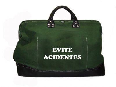 Bolsa de Lona para Ferramentas - Evite Acidentes  VERDE  500 X 380 X 200MM