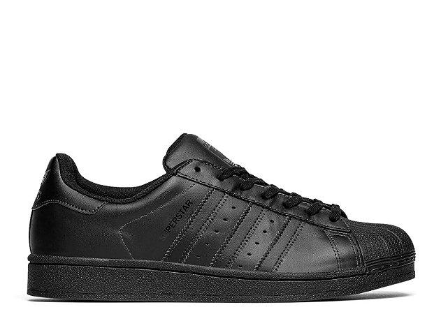 Tênis adidas superstar original preto veludo megamaisoutlet