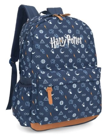2050adecef0c9 Mochila de Costas Harry Potter Azul