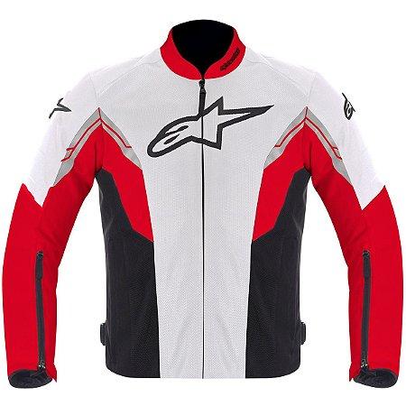 Jaqueta Moto Alpinestars Viper Preta Vermelha Verão