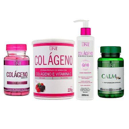 Kit Colágeno Hidrolisado com Vitamina C e Q10  + Calm Plus
