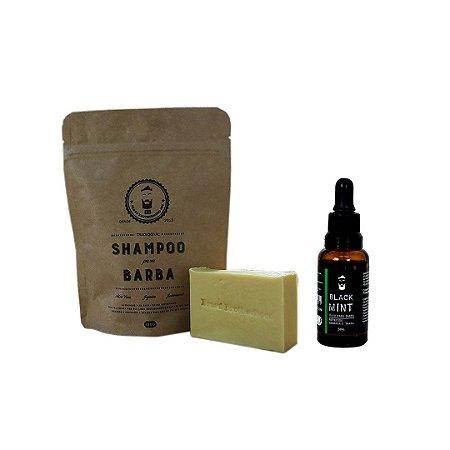 Shampoo e óleo para barba Black Mint 30ml