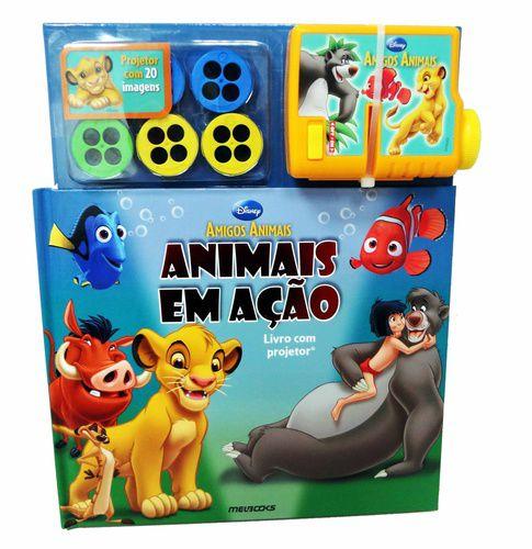 DISNEY AMIGOS ANIMAIS ANIMAIS EM AÇÃO – LIVRO COM PROJETOR
