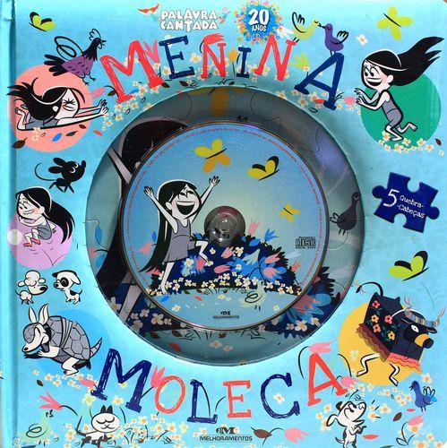 MENINA MOLECA LIVRO QUEBRA-CABEÇA COM CD