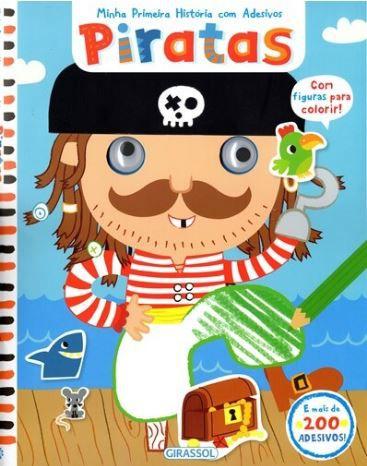 Piratas Coleção Minha Primeira História com Adesivos