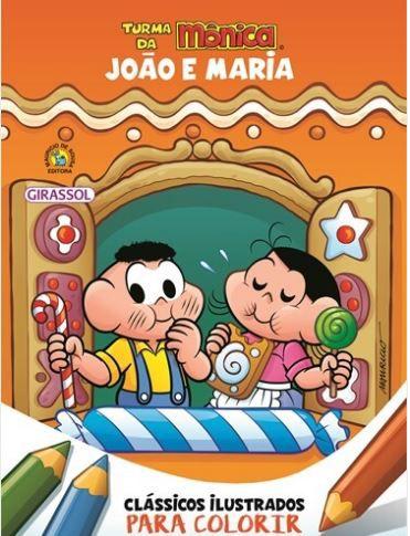 João e Maria - Clássicos ilustrados para colorir