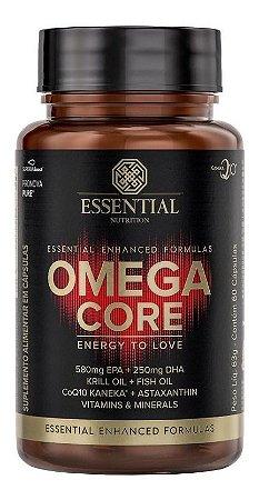 Omega Core (60 Capsulas) Ômega-3 + Coq10 Essential Nutrition