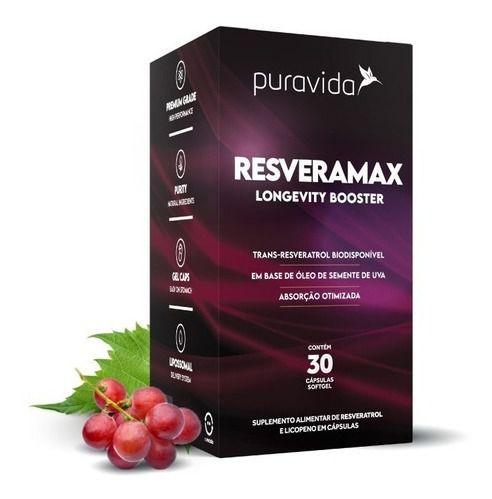 Resveramax Pura Vida 30 Cap - Resveratrol, Puravida