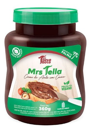 Mrs Tella Mrs Leche 360g Creme De Avelã/condensado Mrs Taste