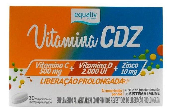 Vitamina Cdz Liberação Prolongada 30 Comprimidos Equaliv