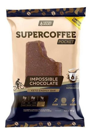 8 barras Novo Supercoffee Pocket Impossible Chocolate 40g