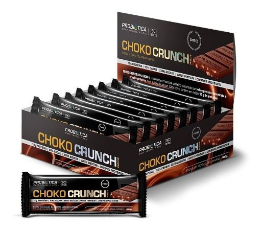 Choko Crunch Cx 12un Probiotica Chocolate Fit Proteico