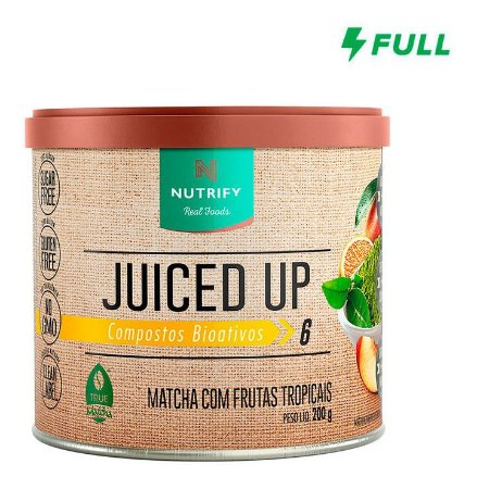 Juiced Up  200g  Com  Chá Verde  - Nutrify