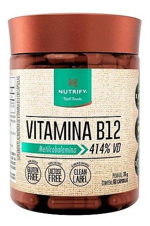Vitamina B12 Metilcobalamina 414% 60caps Nutrify Original Nf