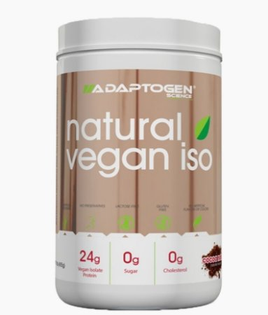 Natural Vegan Iso 465g Adaptogen Whey Protein Isolado
