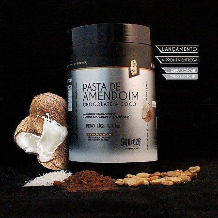 Pasta De Amendoim Squeeze Chocolate E Coco - 1,1kg
