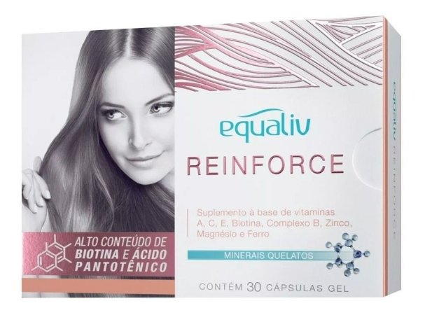 Equaliv Reinforce Cabelos E Unhas C/30 Cáps, Full