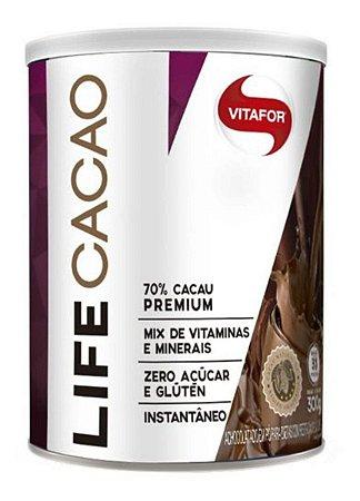 Life Cacao Achocolatado Com Vitaminas 300g - Vitafor