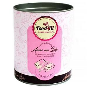 Amor Em Lata Fit Bombom Chocolate Branco Food4fit Sem Açucar