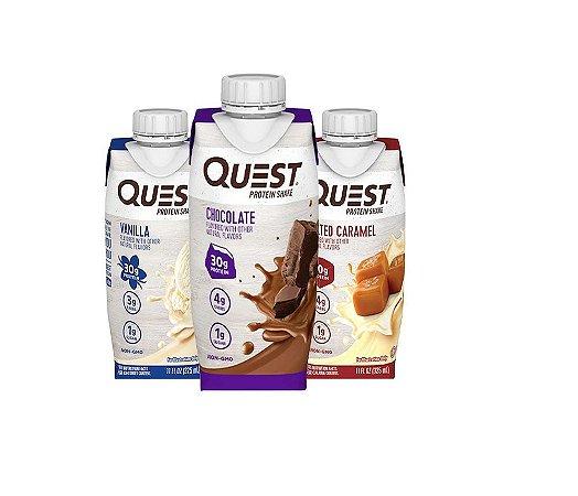 Quest Protein Shake Bebida Com Whey 30g Proteinas 325ml
